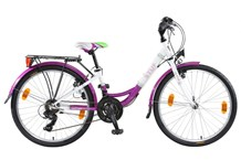 Citybike FEATHER 24 Zoll lila,blau